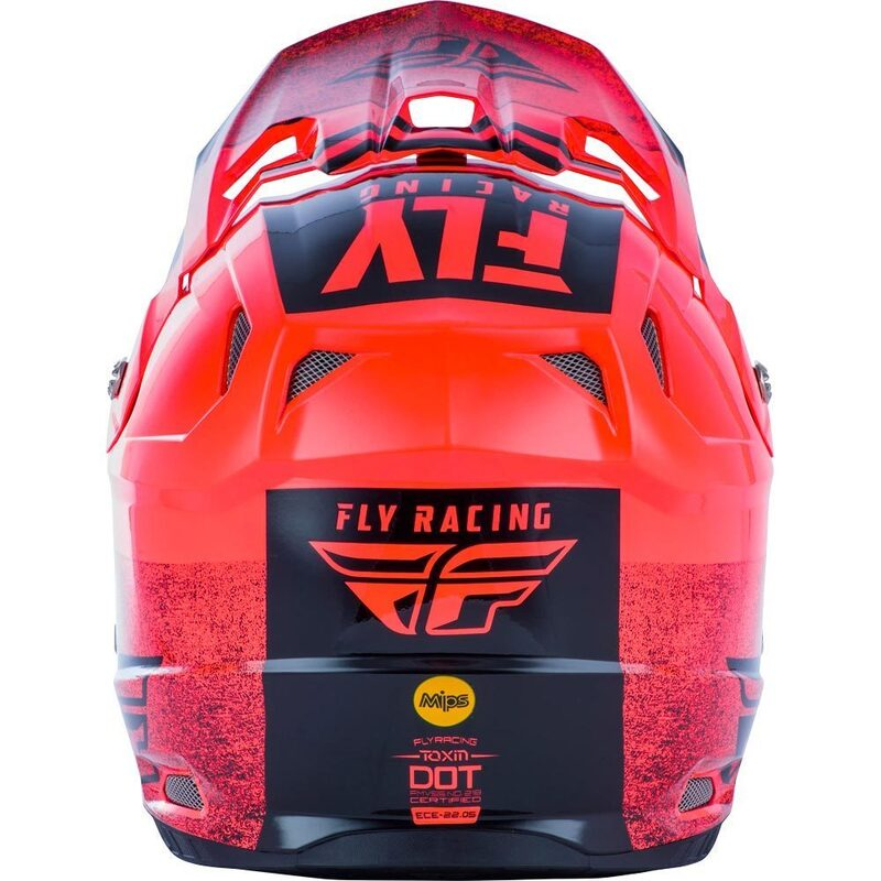 Fly Racing Toxin Embargo Neon Red Kids Helmet