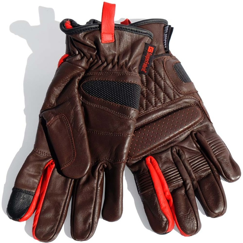 Ellaspede Brown Leather Road Gloves