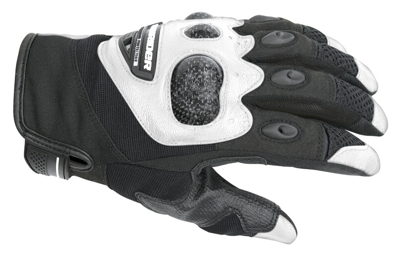 DriRider Air Carbon Black/White Gloves