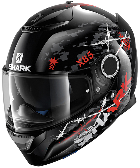 Shark Helmets Spartan Rughed Black/Anthrice/Red Helmet