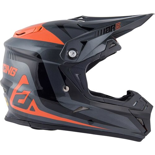 Answer AR-5 Pulse Charcoal/Orange Mips Helmet