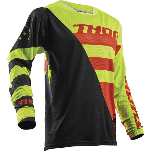 Thor Fuse Air Rive Lime/Orange Jersey