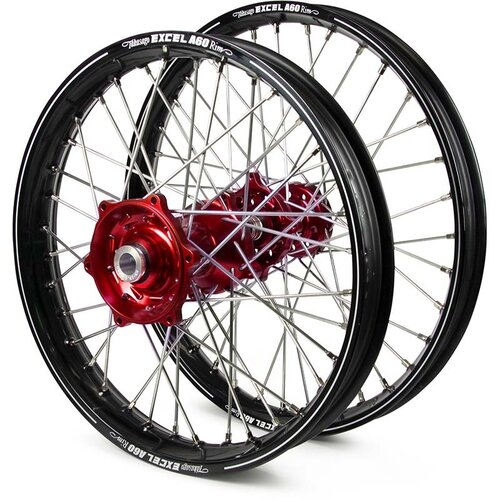 Haan Suzuki RMZ250/450 Black/Red Excel A60 Wheel Set