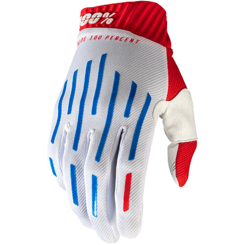 100% Percent Ridefit Red/White/Blue Gloves